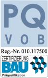 PQ Logo mit Zertbau HTB Hoch- und Tiefbau GmbH, HTB Betonsanierung